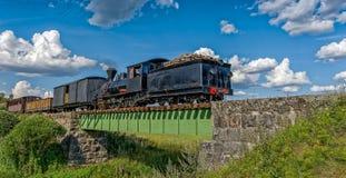 Narrow gauge steam train. Stock Photo
