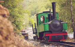 Narrow gauge steam train Stock Photo