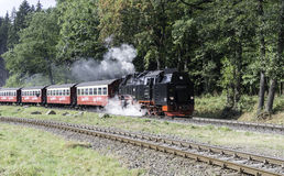 Narrow gauge steam train im Germany Royalty Free Stock Image