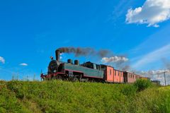 Narrow gauge steam train. Royalty Free Stock Photos