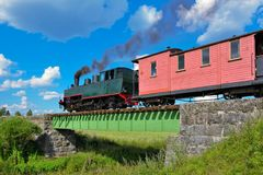 Narrow gauge steam train. Royalty Free Stock Photo
