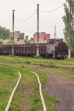 Narrow-gauge train. /railway/railway transport Royalty Free Stock Image