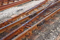 Narrow gauge train track Royalty Free Stock Photography
