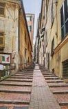 Narrow Genoa street. Stock Photos