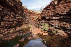 Narrow gorge in West Australia Royalty Free Stock Photos