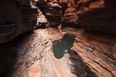 Narrow gorge in West Australia Royalty Free Stock Photography