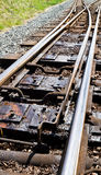 Narrow guage railway points Stock Photos