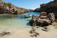 Narrow gulf in Greece Royalty Free Stock Photo