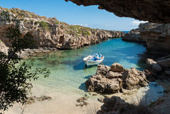 Narrow gulf in Greece Stock Images