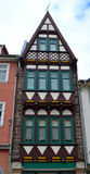 A Narrow Half-Timbered Building in Germany Stock Photography