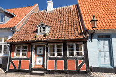 Narrow half-timbered house Royalty Free Stock Photo
