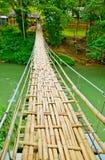 Narrow Hanging Bridge stock photography