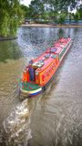 Narrow Boat Home on River Royalty Free Stock Images