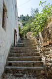 Narrow house staircase Royalty Free Stock Photography