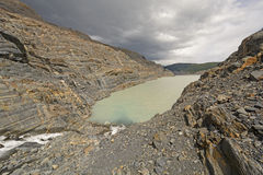 Narrow Inlet on a Glacial Nunatak Royalty Free Stock Photo