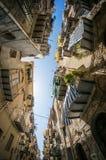 Narrow italian street in Cefalu town. Sicily, Italy Royalty Free Stock Photos