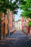 Narrow Italian street Stock Images