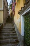 Narrow italian street in Positano, Italy. Narrow italian street in Positano - Italy Royalty Free Stock Images