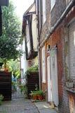 Narrow kent lane cottages Stock Photos