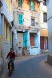 Narrow lane cycle India. Stock Images