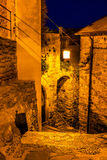 Narrow lane in the night Stock Images