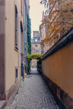 Narrow the lane in old part the city Royalty Free Stock Image