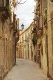 A narrow lane in Italy Stock Photo