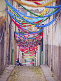 Narrow Lane in Porto Stock Images