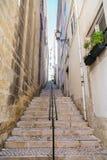 Narrow Lisbon Stairway Stock Image