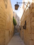 Narrow Mdina street Stock Photography