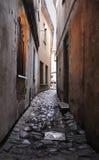 Narrow Medieval Lane At Vilnius Royalty Free Stock Photo