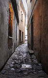 Narrow medieval lane at Vilnius Royalty Free Stock Photo