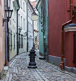 Narrow medieval street Stock Image
