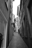 Narrow medieval street in center of Zurich Stock Images