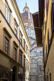 Narrow medieval street in Florence, Italy Stock Photos
