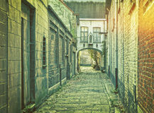 Narrow medieval street in Ghent, Belgium Royalty Free Stock Photos