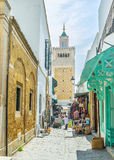 The narrow Medina street Stock Photography