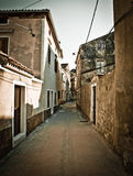 Narrow mediterranean street in Dalmatia Stock Image