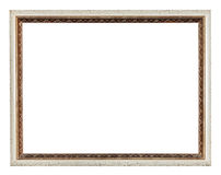 Narrow modern wooden carved picture frame Royalty Free Stock Photo