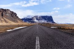 Narrow mountain road  Royalty Free Stock Image