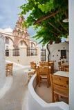 Emporio Village in Santorini stock photo