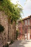 Narrow old european street stock photo
