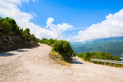 Narrow Old Road With Serpentine Curve Royalty Free Stock Photography