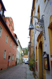 Narrow old street Germany Royalty Free Stock Photo