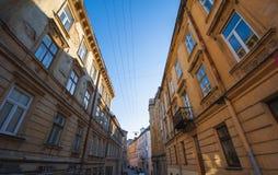 Narrow old street of Lviv Royalty Free Stock Photo