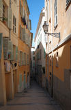 Narrow Old Street Of Nice Royalty Free Stock Photography