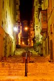 Narrow old street and stairs in Valletta Stock Image