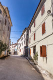 Narrow Old Street Of Village Of Bale - Croatia Royalty Free Stock Photo