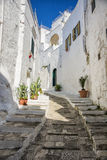 Narrow old urban street in italian town Stock Image
