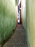 Narrow passage. Narrow oassage in an medieval city stock photography